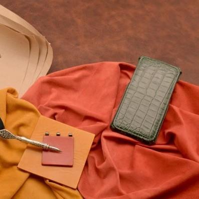 Зеленый кожаный чехол для iPhone 6S Plus/6 Plus
