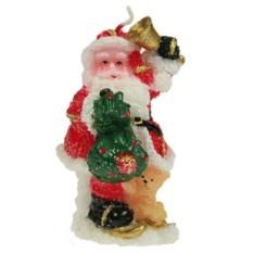 Новогодняя свеча Дед Мороз (10 см)