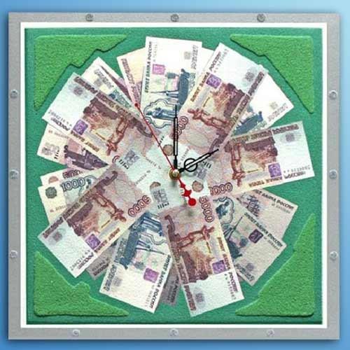 Часы из песка Время-деньги