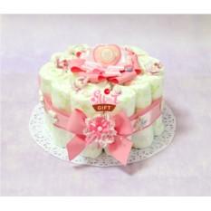 Мини торт из памперсов Взбитые сливки