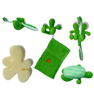 Набор для ванной «Зеленые человечки»