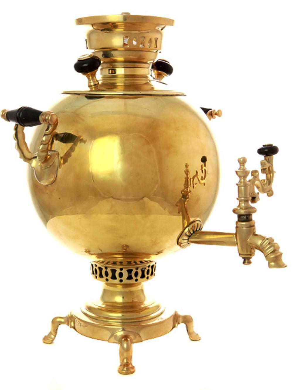 Угольный самовар (на дровах) (5 литров) желтый шар