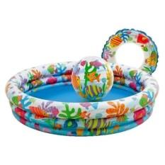 Надувной бассейн, круг и мяч Аквариум