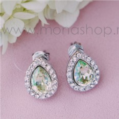 Серьги с кристаллами Сваровски «Хрустальные капли»