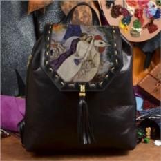 Женский кожаный рюкзак Невеста и Эйфелева башня