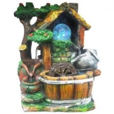 Настольный декоративный фонтан Сказочный сад с подсветкой