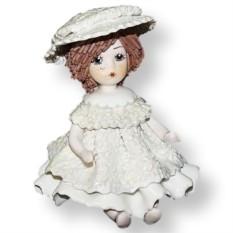 Фарфоровая статуэтка Кукла в белом платье ZamPiva