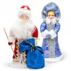 Набор с игрушками под елку «Дед Мороз и Снегурочка»