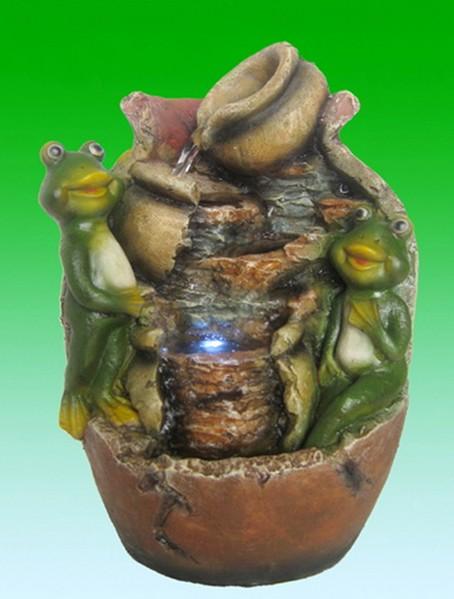 Настольный фонтан с подсветкой Лягушки и кувшины