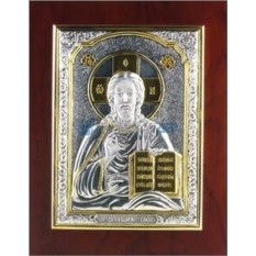 Икона Христа Спасителя с позолотой