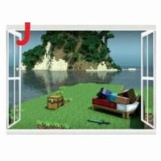 Наклейка на стену Minecraft