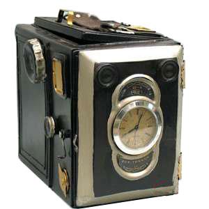 Модель фотоаппарата с часами, 1925