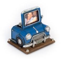 Фоторамка с подставкой для ручек Синий автомобиль