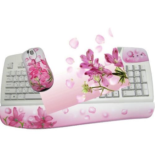 Клавиатура, мышь, коврик «Нежные»