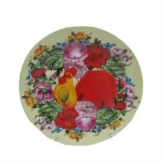 Блюдо Петух в цветах