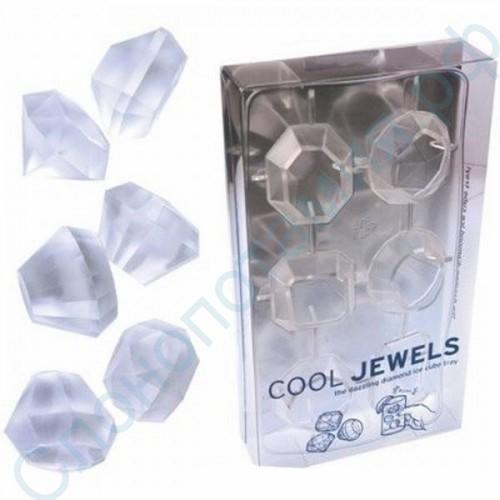 Силиконовая форма для льда Алмазы