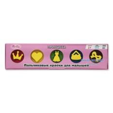 Пальчиковые краски для малышей со штампами «Принцесса» Molly