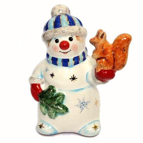 Фигурка Снеговик с белкой