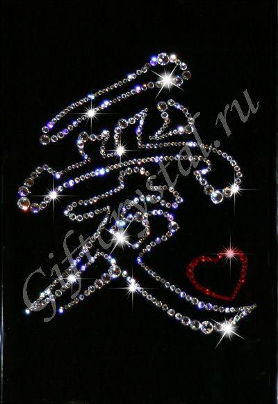 Картина из кристаллов Swarovski Иероглиф – символ любви