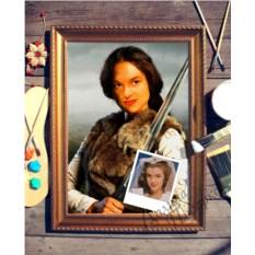 Портрет по фото Воительница