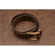 ElolE Belts. Ремень, кожа, коричневый (тип 9)