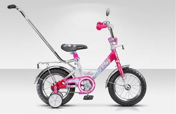 Велосипед 12 Magic со стальной рамой и ручкой STELS