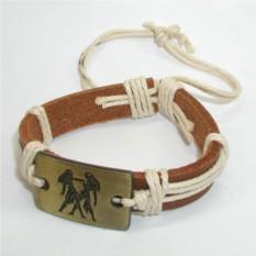 Кожаный браслет Близнецы