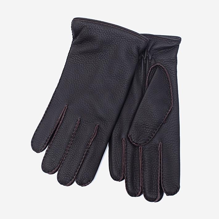 Темно-коричневые перчатки Merola из кожи оленя