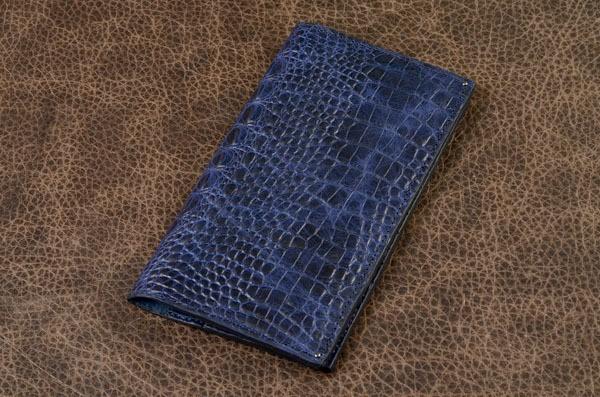 Кошелек из кожи Elole Design (синий, крокодил)