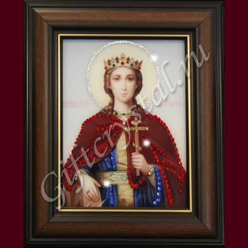 Картина из кристаллов Swarovski Икона Святая Екатерина