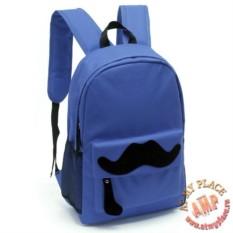 Синий рюкзак Mustache