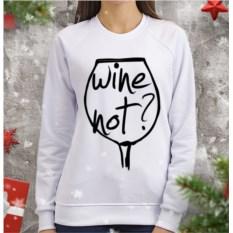 Женский свитшот Wine not
