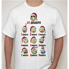 Мужская футболка Календарь