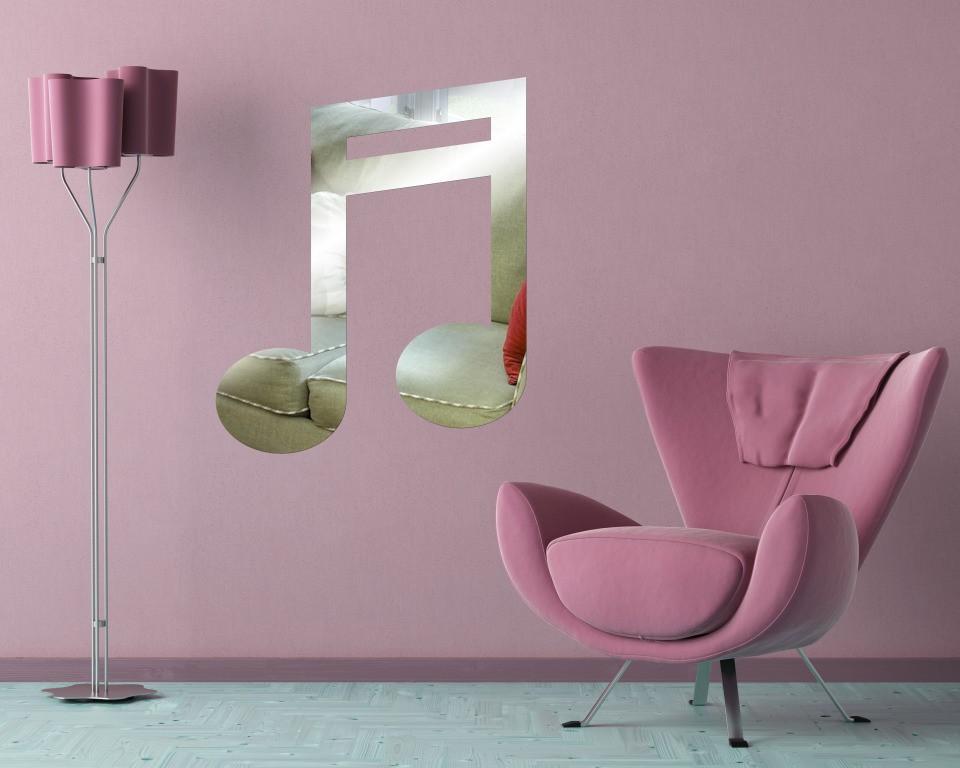 Декоративное акриловое зеркало «Ноты»