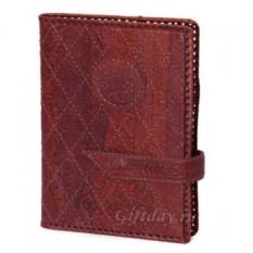 Терракотовый стеганый кожаный ежедневник