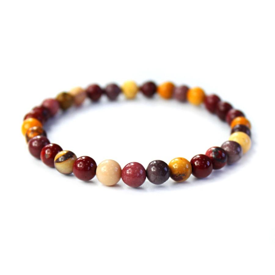 Мужской браслет из разноцветной яшмы