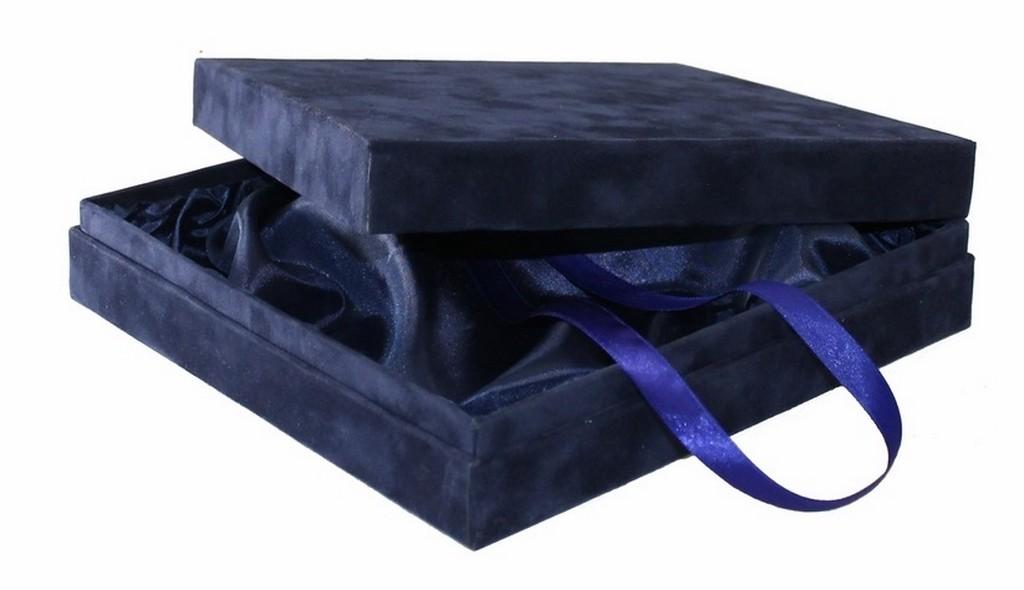Подарочная коробка из флока, средняя