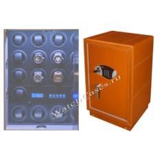 Кожаный сейф для часов с автоподзаводом