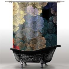 Шторка для ванны Цветы