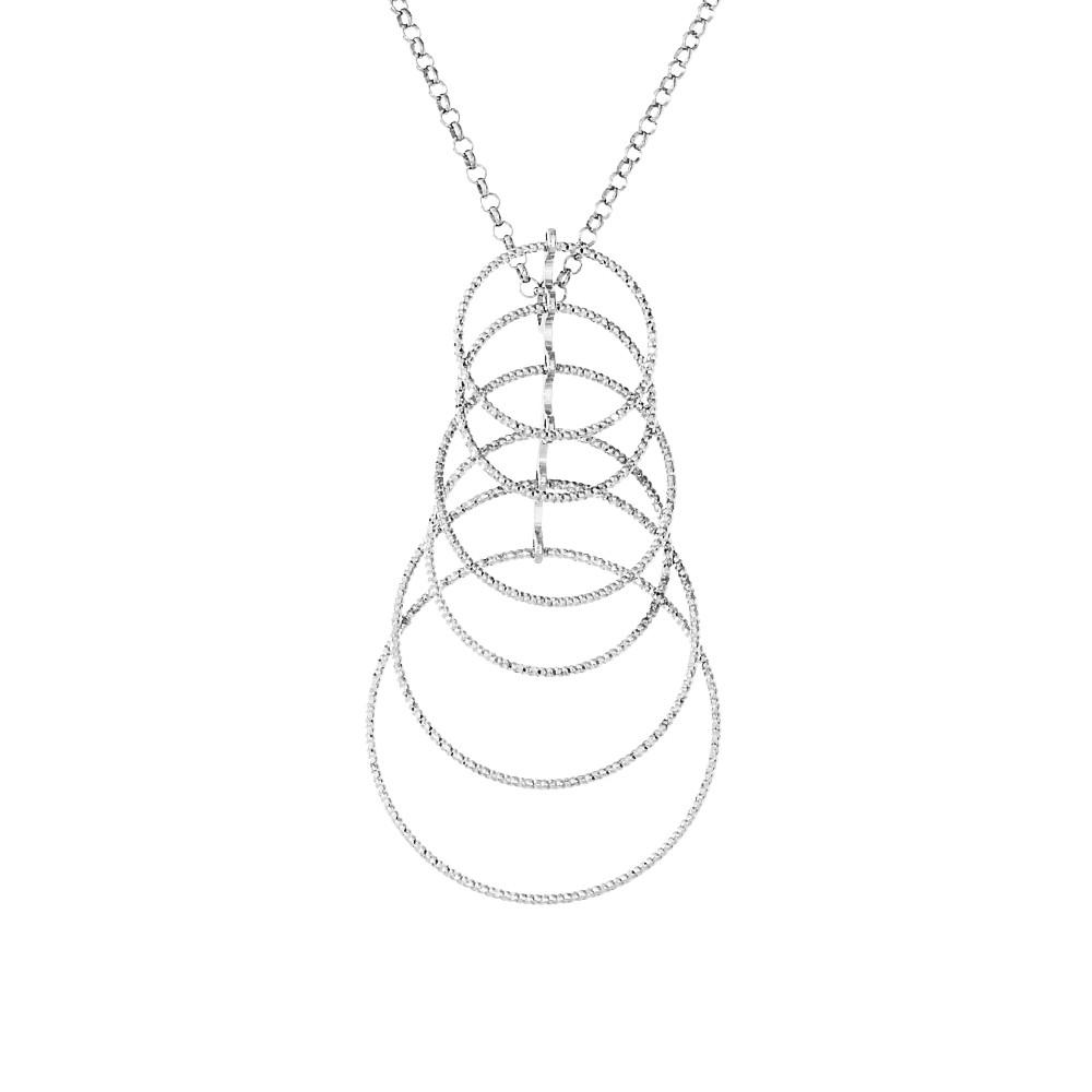 Женский серебрянный кулон на цепи