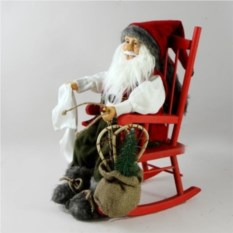 Интерьерная фигурка Дед Мороз на стуле