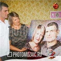 Фотомозаика в подарок на Новый Год