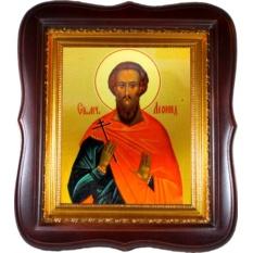 Леонид Коринфский Святой мученик. Икона на холсте.