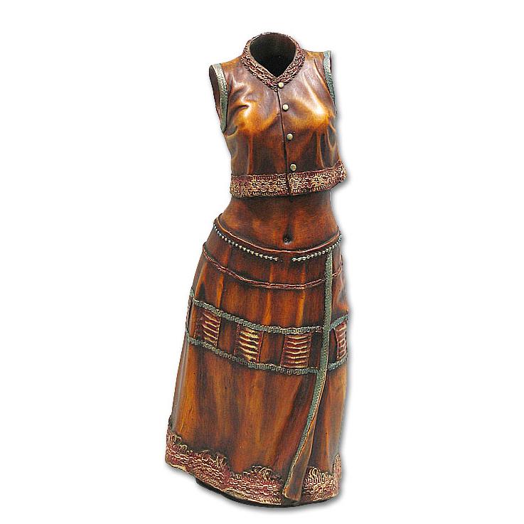 Ваза силуэт женского платья