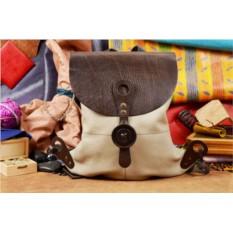 Коричнево-бежевый кожаный рюкзак ручной работы LUNA