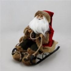 Интерьерная кукла Дед Мороз на санках