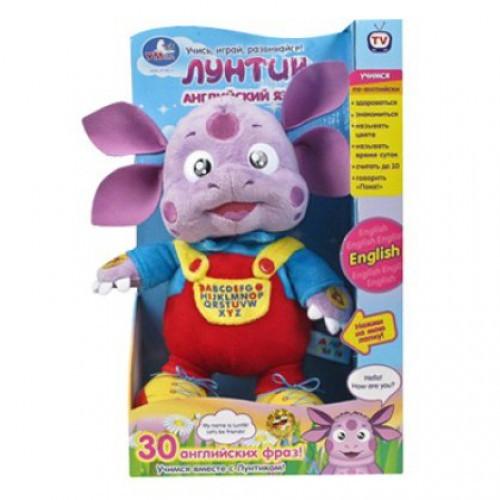 Мягкая игрушка Лунтик. Учим английский