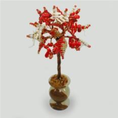 Сказочное дерево из красного и белого коралла