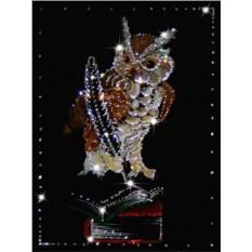 Картина с кристаллами Сваровски Мудрая сова