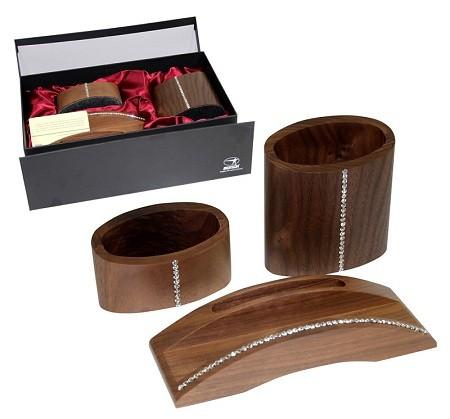 Подарочный набор Horse, 3 предмета, орех, Swarovski